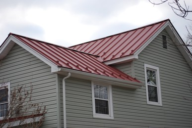 pre-finished red metal roof